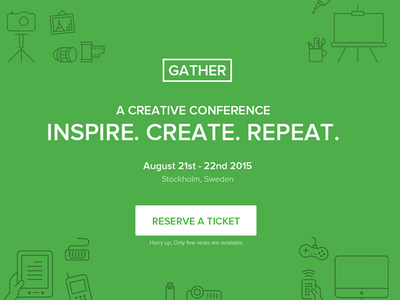 Event Landing Page Template - Gather inspiration design website template html5 responsive event landing page event meetup conference web design landing page template