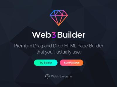 HTML Page Builder Landing Page premium psd template landing page page builder html