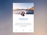 Profile Vcard - Codepen (HTML / CSS3)