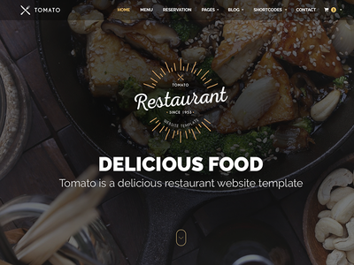 Restaurant Website Template — HTML & PSD video parallax responsive html psd themeforest open table template website recipe food restaurant