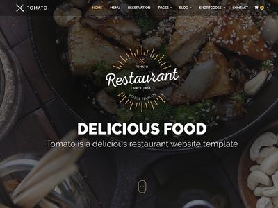 Restaurant Website Template — HTML & PSD video parallax responsive html psd themeforest open table template website recipe food restaurant