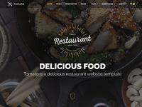 Restaurant Website Template — HTML & PSD