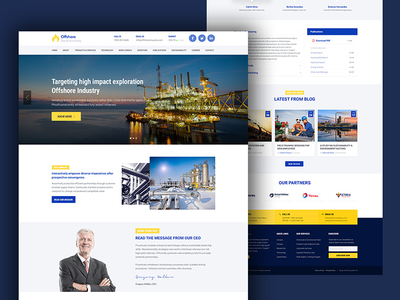 Industrial Business Website — Offshore building architecture construction steel gas oil surjith offshore corporate industrial business industry