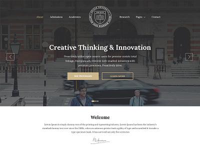 Education, University & College Website Template — Unisco surjithctly surjith unisco edu design template website college university education