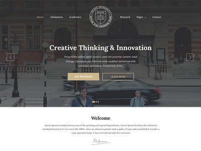 Education, University & College Website Template — Unisco surjithctly surjith unisco edu design template website college university education