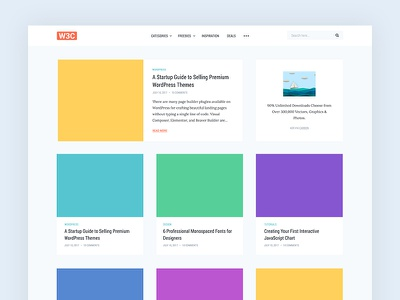 Web3Canvas Blog Redesign 3 column grid modern minimal clean startup blogging personal redesign blog web3canvas