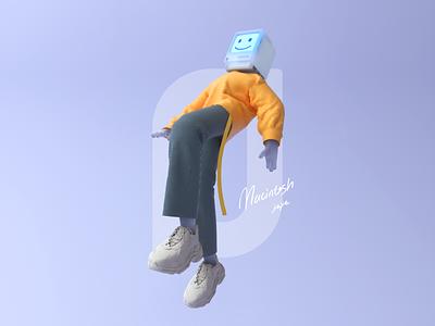 Macintosh boy c4d