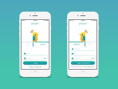 Daily UI challenge #001 — SignUp day 001 dailyui bird smart bird feeder