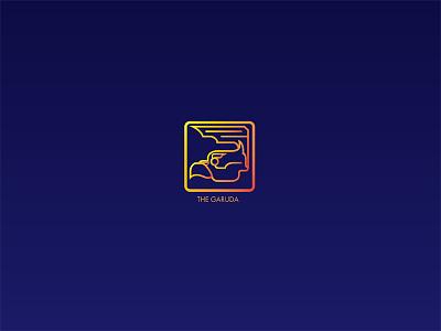 GARUDA book bird illustration logo design garuda