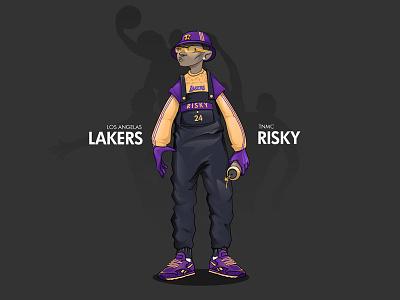 Go lakers basketball creative graffiti character design design illustration