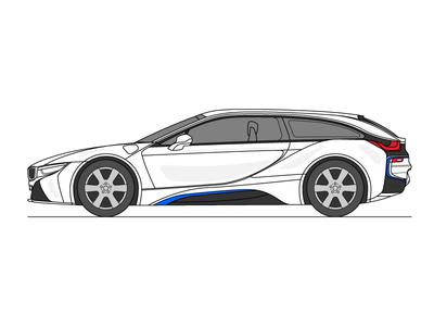 BMW i8 Shooting Brake Concept