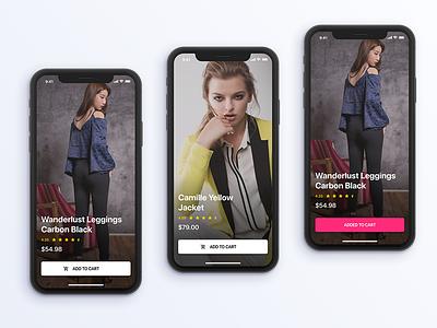 Daily UI - AR Shopping App Screen ui design daily ui user interface dailyui ar e-commerce design ios interface app ui ux