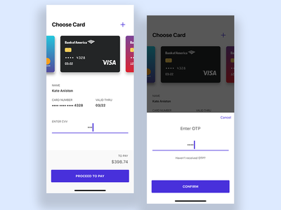 Daily UI Challenge 002 - Credit Card Checkout credit card invision studio payment light e-commerce clean dailyui design ios app ux ui