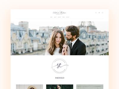 Landing Page - Photography Portfolio & Blog landing page website branding wedding blog interface web ui ux photography