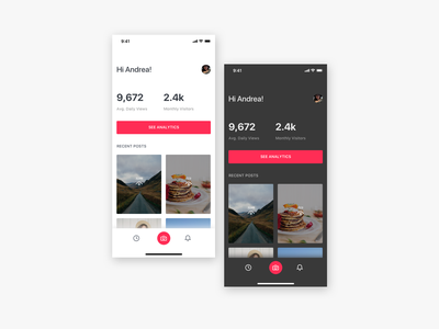 Story Post App - Home Screen story photography ios app interface design ux ui