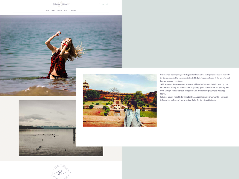 Photography Portfolio Site website logo photograhy portfolio landing page branding web interface ux ui design