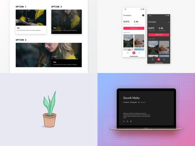 Top 4 of 2018 top4shots vector graphic dailyui illustration web ios app interface ux ui design