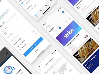 Calendo - UI Screens dailyui ios app interface ux ui design