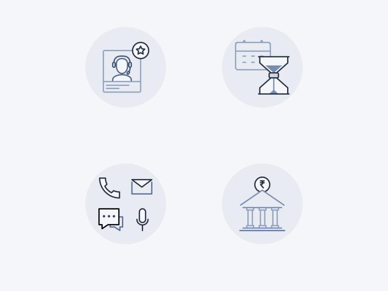 Micro illustrations - Landing Page graphic icon illustration web vector branding app interface ui design