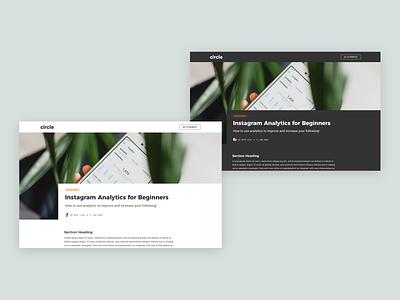 Blog Post Header Layout dailyui typography web branding ios app interface ux ui design