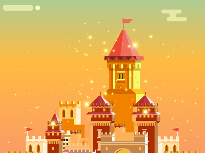Medieval Kingdom flat vector design illustration