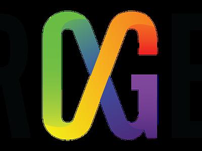 "Infinity ""OG"" Lettermark designing against ableism infinity rainbow spectrum autism"