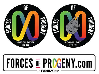 ForcesOfProgeny.com Logo Options infinity fandom star wars identity blog personal branding