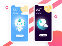Cute Robot Design with Day Night App