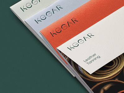 Kegar Tannery k letter type handmade craft artisanal rio creativo kegar typeface wordmark logo branding brand leather tannery