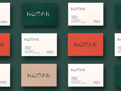 Kegar Tannery business card tannery branding stationery