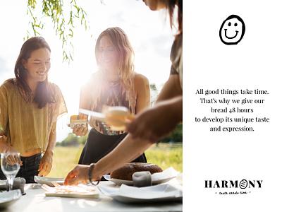 Harmony slowfood bakery logo design rio creativo branding