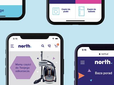 NORTH arrow appaliances fix repairs north ui design branding logo