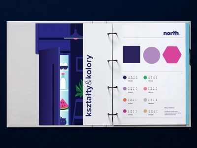 North słupsktutworzymy colors shapes visual identity parts appliances north brand identity brandbook brand