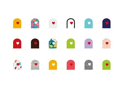 we care heart finger health healthcare diabetes brand rio creativo branding logo