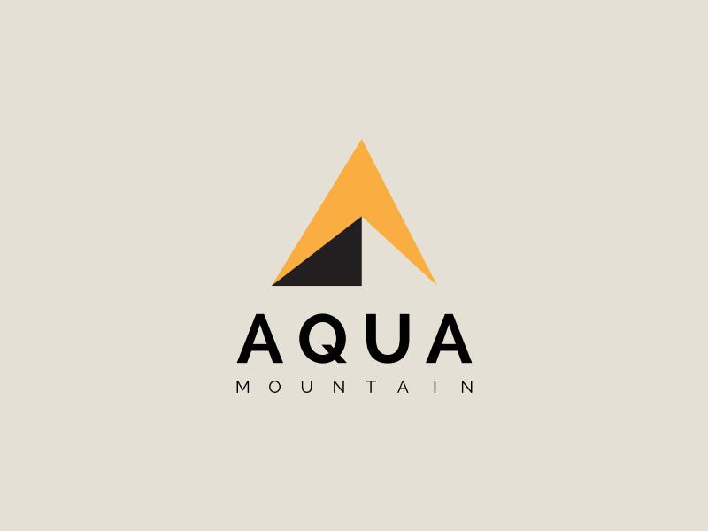 Aqua Mountain modern aquatic minimal professional a a icon shape a letter mountain creative logo