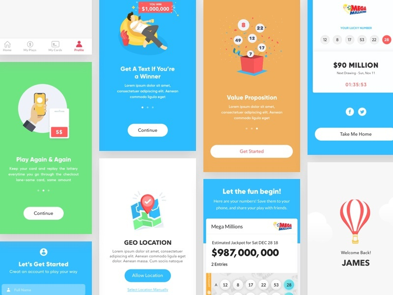 Lottery Mobile by Ruby Ng on Dribbble