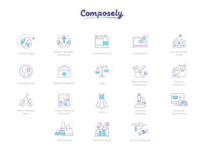 Compose.Ly Icons set categories writers freelance design icon icon artwork icon a day web app website icons icons design icons pack icons icons set content writer