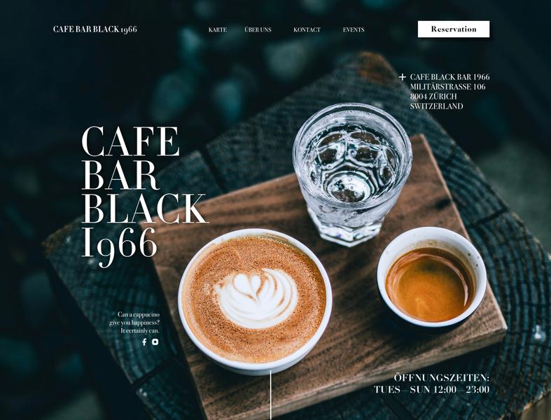 Cafe Black Bar 1966 | Web Design, Social Media, Ad Design |
