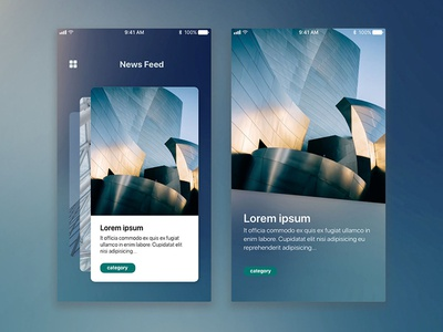 News Feed mobile interface ui ux feed