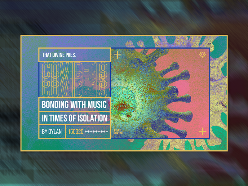 Bonding With Music In Times Of Isolation /Live Stream Cover/ social media banner cover design promotional design social media design music art typography promotional material electronic music artwork design