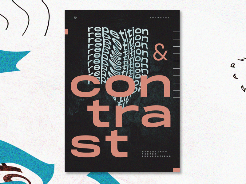 Poster Design Explorations - Repetition & Contrast repetition contrast typography art typedesign graphic design explorations poster design poster typogaphy