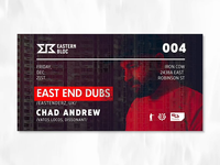 East End Dubs - Event Interactive Cover Design