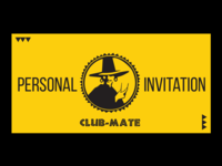Club-Mate Event Invitation Design