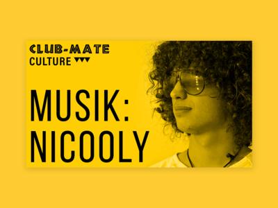 Club-Mate Event Artists Presentation Design