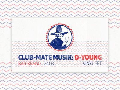 Event Cover Design for Club-Mate Musik Series