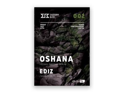 Event Poster Design for Oshana @ Eastern Bloc