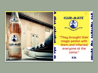 Presentation deck cover design for Club-Mate Bulgaria