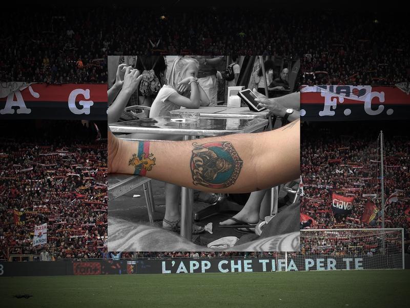 Football Fan Tattoo Design - Gradinata Nord, Genoa, Italy design italy genoa gradinata nord fans football ink art tattoo