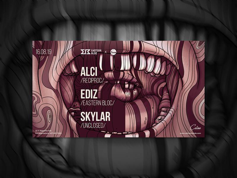 Alci - Facebook Event Cover Design for Eastern Bloc music artwork social media design cover design promotional design illustration typography promotional material electronic music artwork design