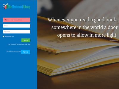 Subscription Service UI responsive forms sigin login web ui